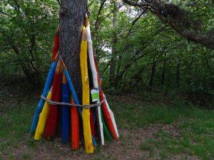 Alba delle matite opera di land art di Marco Della Valle a Challand Art - Foto di Gian Mario Navillod.