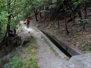 Sentiero lungo il Ru des Gagneurs - Foto di Gian Mario Navillod.