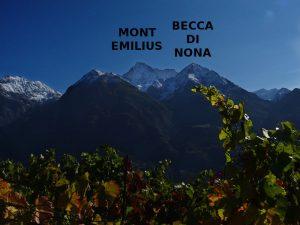 Il Mont Emilius e la Becca di Nona dal Ru Pompillard - Foto di Gian Mario Navillod.