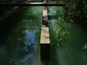Il dissabbiatore del Ru Herbal - Foto di Gian Mario Navillod.