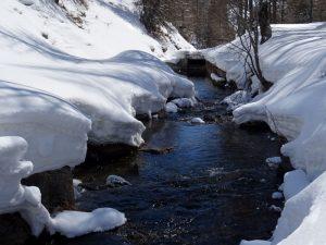 Presa del Ru de Torgnon in inverno - foto di Gian Mario Navillod.