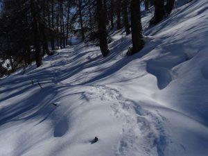 Ru de Torgnon sotto la neve - foto di Gian Mario Navillod.