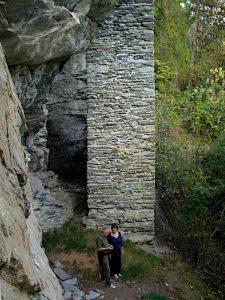 Pilastro del Ru du Pan Perdu di Antey - foto di Gian Mario Navillod.