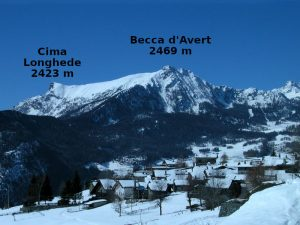 Il villaggio di Promiod sotto la neve - foto di Gian Mario Navillod.